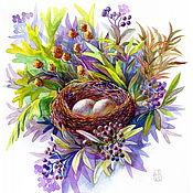 Картины и панно ручной работы. Ярмарка Мастеров - ручная работа Родное гнездо. Handmade.