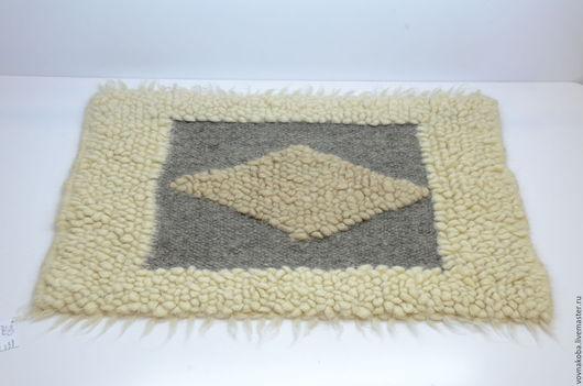 Текстиль, ковры ручной работы. Ярмарка Мастеров - ручная работа. Купить Коврик из овечьей шерсти KB014m. Handmade. коврики