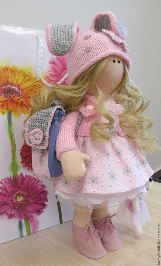 Куклы тыквоголовки ручной работы. Ярмарка Мастеров - ручная работа. Купить Интерьерная куколка-малышка Виктория. Handmade. Бледно-розовый