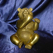 Фен-шуй и эзотерика ручной работы. Ярмарка Мастеров - ручная работа Панда (китайский медведь) и бамбук бронза статуэтка. Handmade.