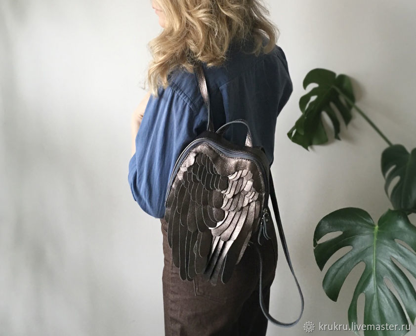 Рюкзачок Крылья из кожи или экокожи, Рюкзаки, Москва,  Фото №1