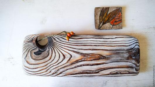 """Кухня ручной работы. Ярмарка Мастеров - ручная работа. Купить чайная доска """"дождливое утро"""". Handmade. Белый, леревянный поднос"""