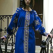 Платья ручной работы. Ярмарка Мастеров - ручная работа Вышитое платье. Handmade.