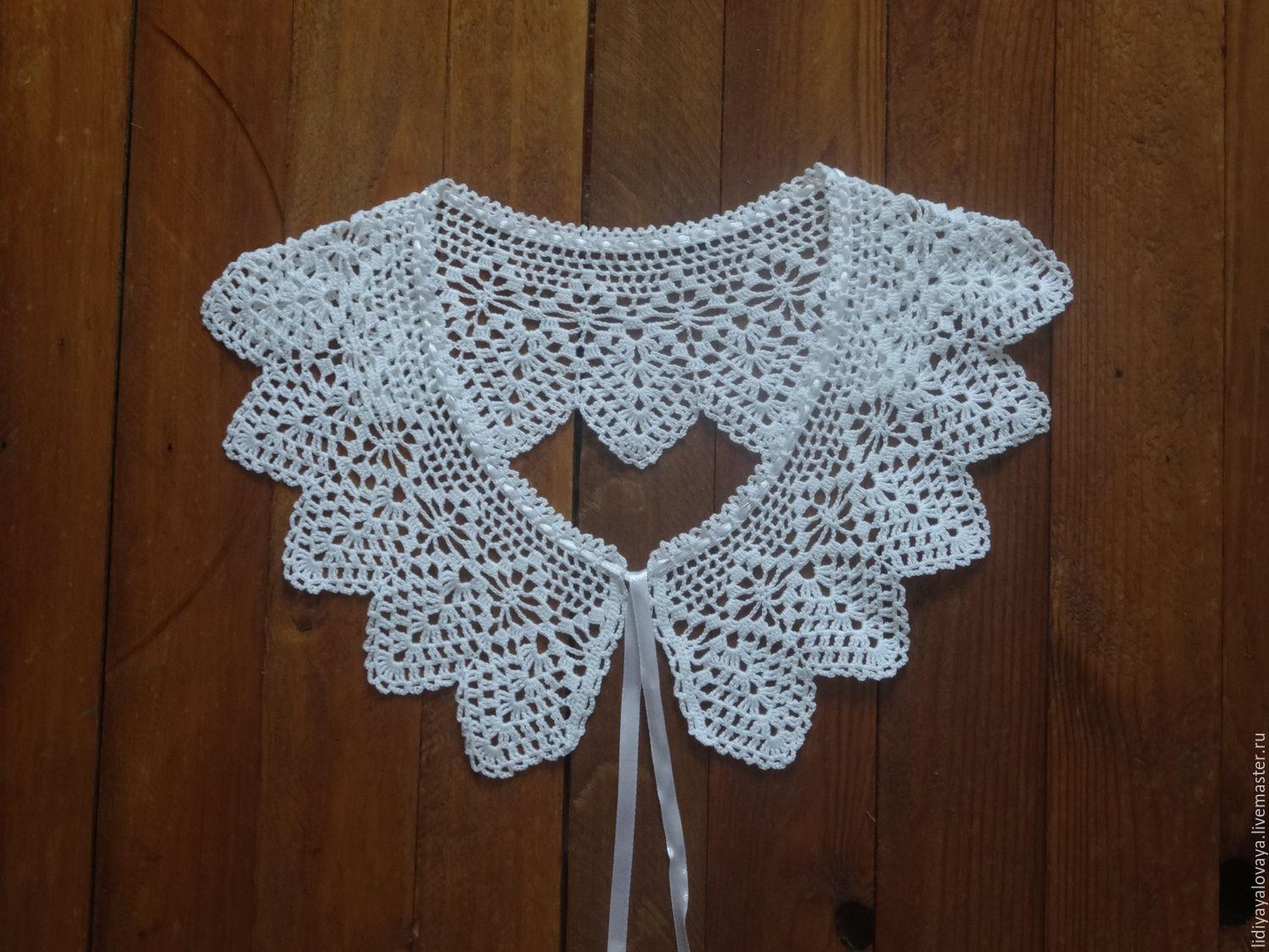 lace collar, collar, fishnet, collar, crochet, buy crochet lace collar, buy collar, buy slip collar, the collar knitted, handmade lace.
