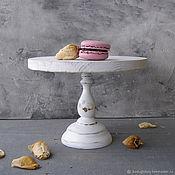 handmade. Livemaster - original item Wood Cake Stand 24 cm Cake platte. Handmade.