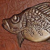 """Картины и панно ручной работы. Ярмарка Мастеров - ручная работа Панно """"Деревянные рыбы"""". Handmade."""