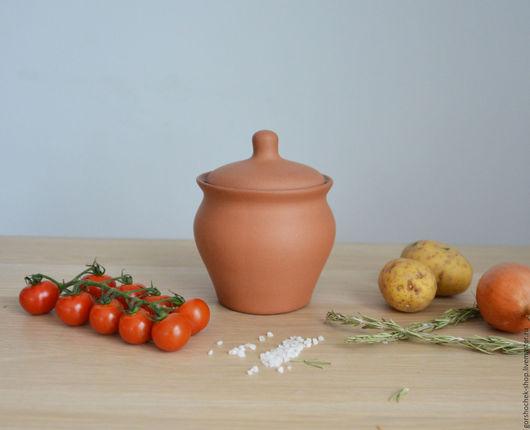 Кухня ручной работы. Ярмарка Мастеров - ручная работа. Купить Горшок для запекания в духовке (0,7л). Handmade. Керамика