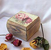 Для дома и интерьера ручной работы. Ярмарка Мастеров - ручная работа Шкатулка из дерева Винтажные розы. Handmade.