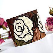 Украшения ручной работы. Ярмарка Мастеров - ручная работа Браслет из бисера Розы. Handmade.