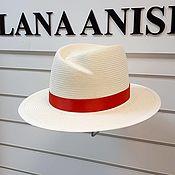 Аксессуары handmade. Livemaster - original item Michelle`s white straw hat.. Handmade.