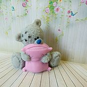 Мыло ручной работы. Ярмарка Мастеров - ручная работа Мыло Мишка  с подушкой. Handmade.