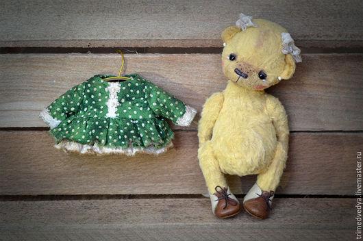 """Мишки Тедди ручной работы. Ярмарка Мастеров - ручная работа. Купить """"Мишки"""": Лидочка. Handmade. Желтый, три медведя, вискоза"""