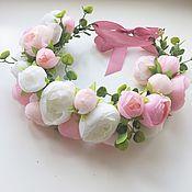Украшения ручной работы. Ярмарка Мастеров - ручная работа Венок из пионов нежно-розовый. Handmade.