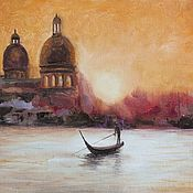 Картины и панно handmade. Livemaster - original item Venice, Cathedral of Santa Maria della Salute. Handmade.