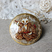 Украшения handmade. Livemaster - original item Brooch with miniature painting
