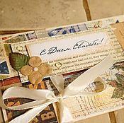 Открытки ручной работы. Ярмарка Мастеров - ручная работа Открытка-конверт на свадьбу. Handmade.