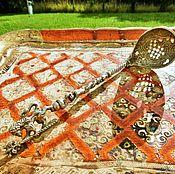 Винтаж ручной работы. Ярмарка Мастеров - ручная работа Бронь!Старинная ложка-черпак для пудры Lion посеребрение Италия. Handmade.
