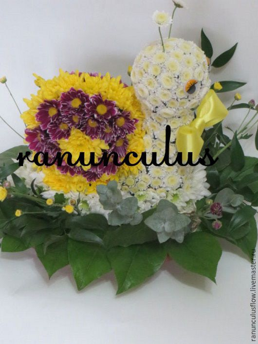 Улитка из цветов, Букеты, Москва, Фото №1