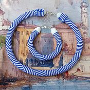"""Украшения ручной работы. Ярмарка Мастеров - ручная работа Жгут и браслет """"Море"""". Handmade."""