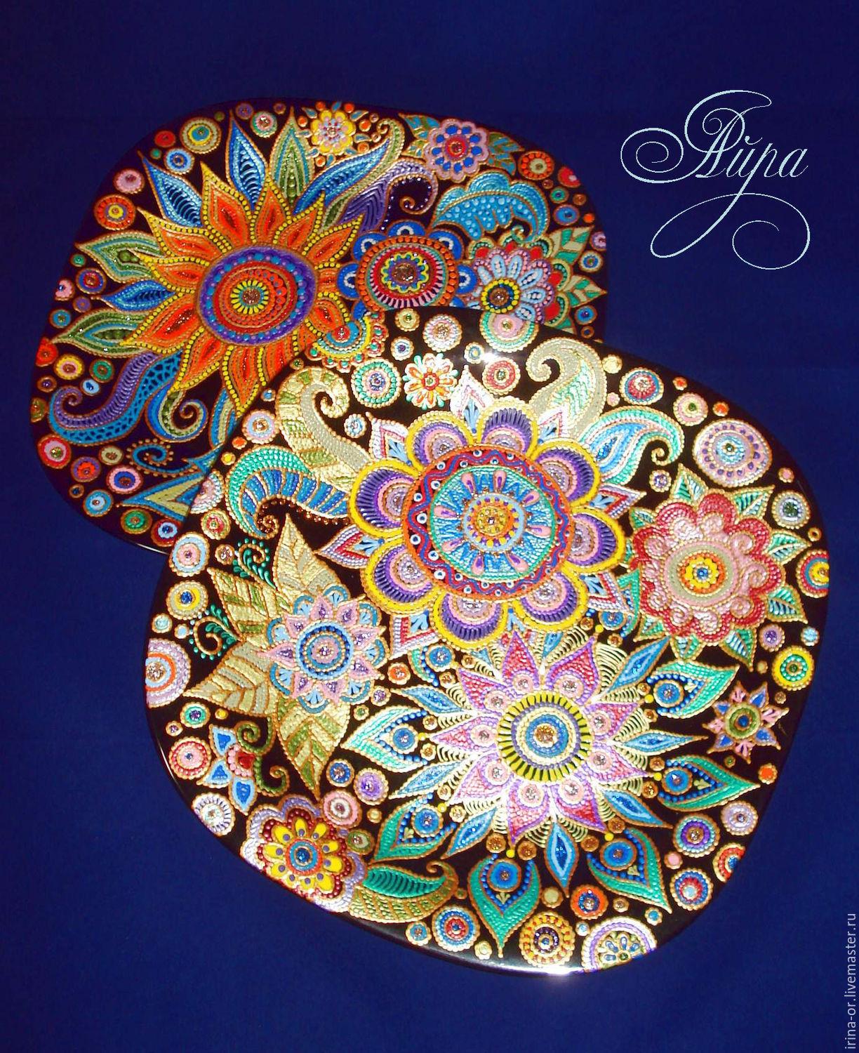 Тарелки с точечной росписью картинки