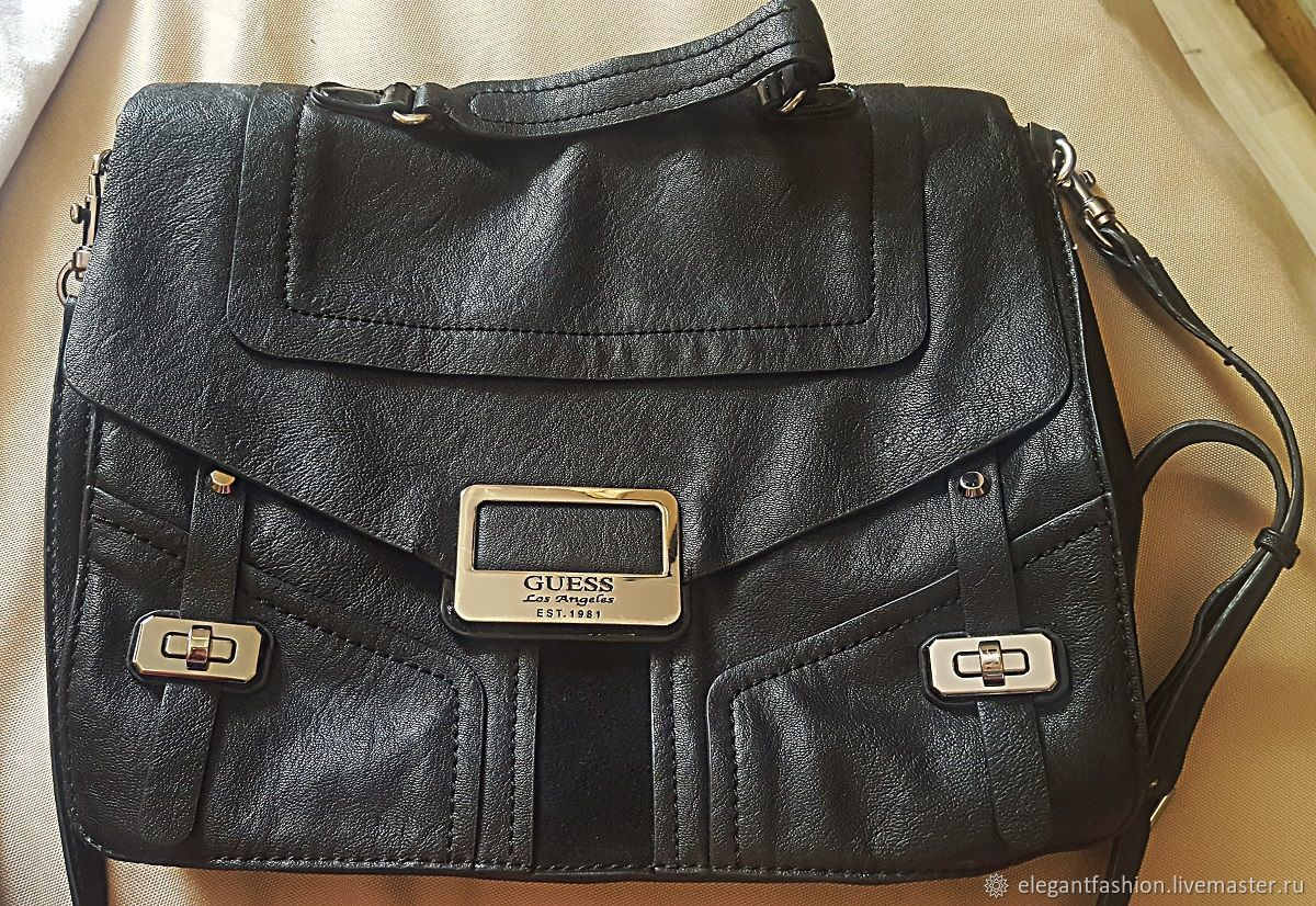 Guess, briefcase bag, Vintage bags, Moscow,  Фото №1