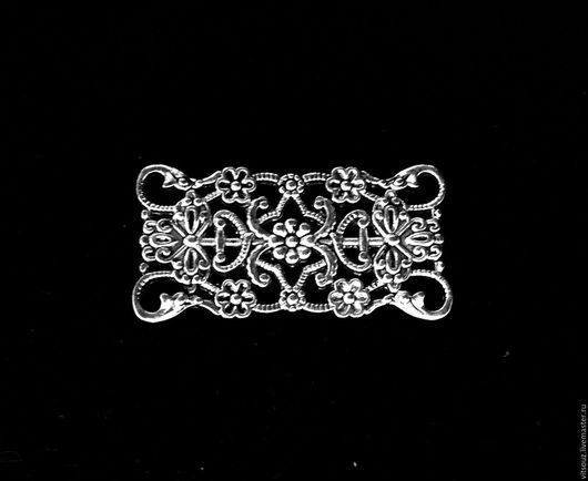 Арт. В31516 Декоративный элемент (коннектор).Цвет античное серебро