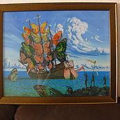 Картины и панно ручной работы. Ярмарка Мастеров - ручная работа Корабль отплывающих бабочек. Handmade.