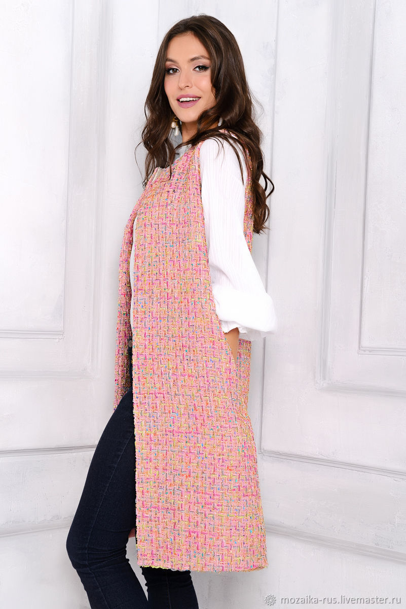 Chaleco de tela chanel rosas – compra u ordena en la tienda en línea ...
