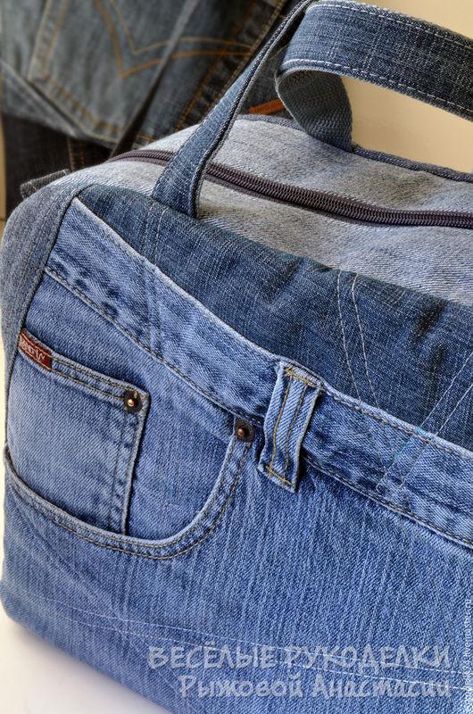 Женские сумки ручной работы. Ярмарка Мастеров - ручная работа. Купить Джинсовая сумка. Handmade. Синий, подарок, стильная сумка