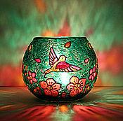 Для дома и интерьера handmade. Livemaster - original item Birds Glass Candle Holder. Handmade.