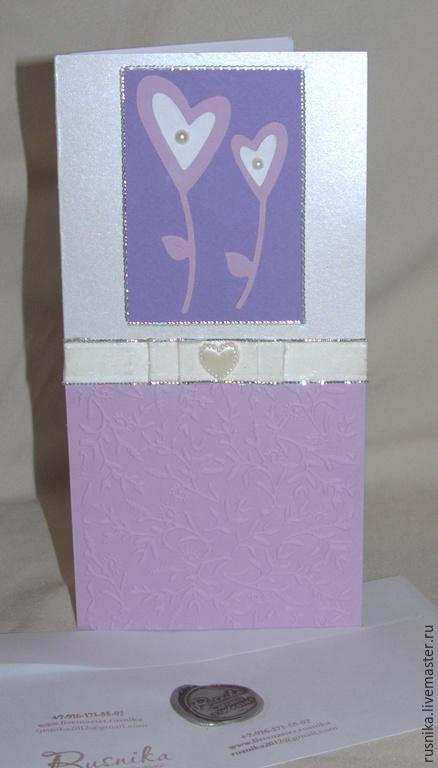 Основа открытки - плотная бумага с легким свечением.