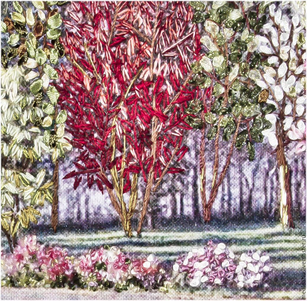Вышивка лентами картины пейзажи 23