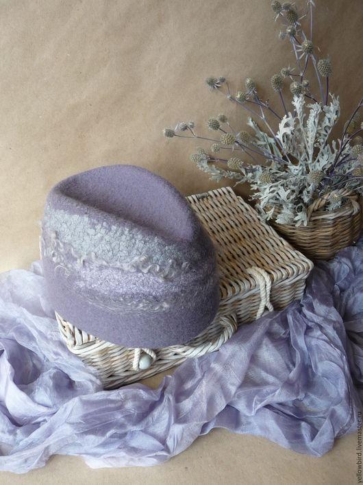 Шляпы ручной работы. Ярмарка Мастеров - ручная работа. Купить Lavender clouds...Шляпка-пилотка. Handmade. Сиреневый, пилотка