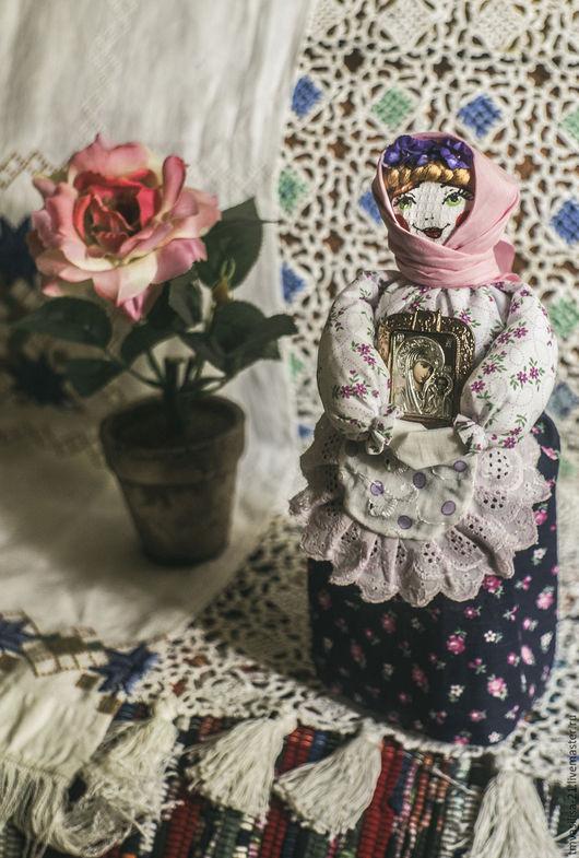 Текстильная кукла с образом Богородицы-подарок к православному празднику.