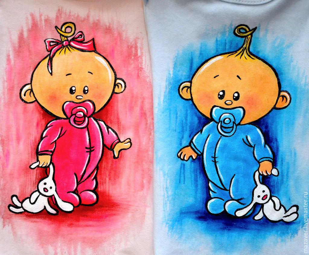 Двойняшки мальчики картинки нарисованные