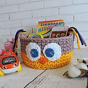 Для дома и интерьера handmade. Livemaster - original item Owl basket of knitting yarn. Handmade.