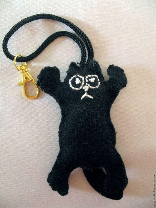 Брелоки ручной работы. Ярмарка Мастеров - ручная работа. Купить Брелок Черный кот. Handmade. Черный, кот, аксессуары