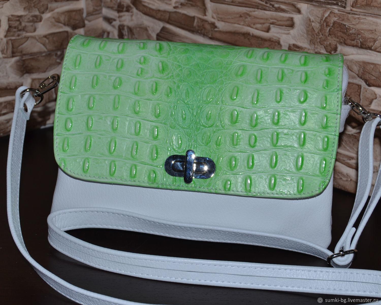 Компактная сумочка из кожи на каждый день. Модель 524, Классическая сумка, Богородск,  Фото №1