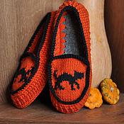 """Обувь ручной работы. Ярмарка Мастеров - ручная работа Мокасин """"Halloween"""" (дом). Handmade."""
