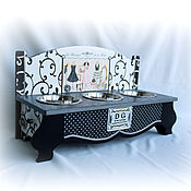 Для домашних животных, handmade. Livemaster - original item Interior stand under a bowl