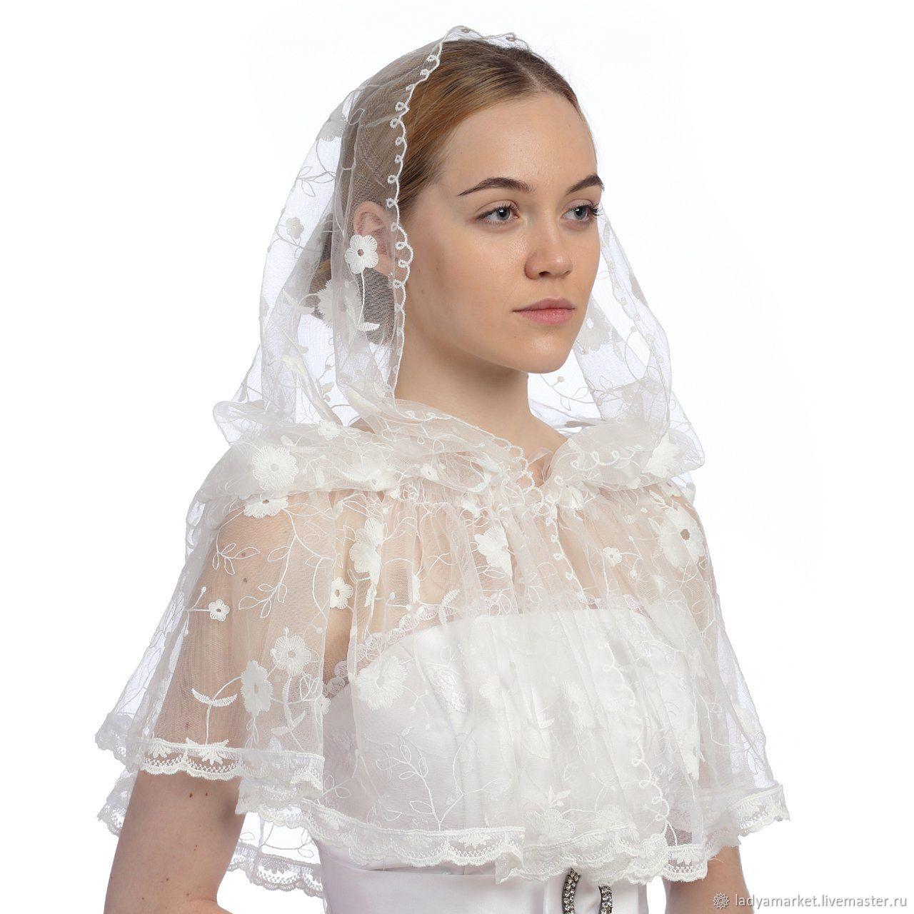 платок для венчания фото только дизайн верха