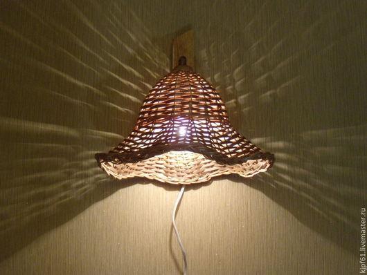 Освещение ручной работы. Ярмарка Мастеров - ручная работа. Купить Бра плетёное из лозы /Шляпа/. Handmade. Бежевый, интерьер, лоза