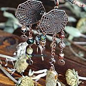 Украшения handmade. Livemaster - original item Earrings in BOHO style with jasper