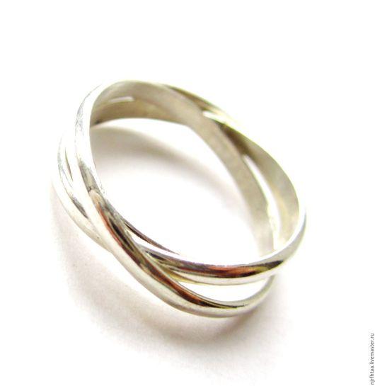 Кольца ручной работы. Ярмарка Мастеров - ручная работа. Купить Серебряное кольцо Три ручья. Handmade. Серебряный, блестящее кольцо