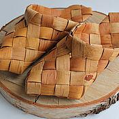 Русский стиль handmade. Livemaster - original item Sandals-sandals of birch bark
