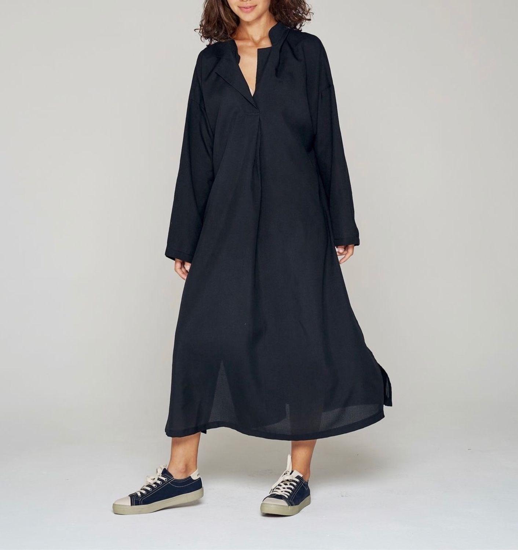 Черное бохо  платье, Платья, Дрезна,  Фото №1