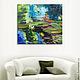 """Картины цветов ручной работы. Ярмарка Мастеров - ручная работа. Купить """"Водяные лилии"""" 90х80 см большая картина маслом мастихином. Handmade."""
