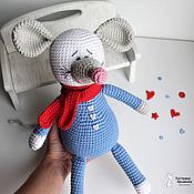 Мягкие игрушки ручной работы. Ярмарка Мастеров - ручная работа Мышь вязаная.... Handmade.