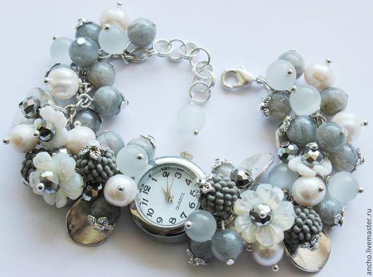 """Часы ручной работы. Ярмарка Мастеров - ручная работа. Купить Часы """"Серые"""". Handmade. Серый, часы-браслет, женские часы"""