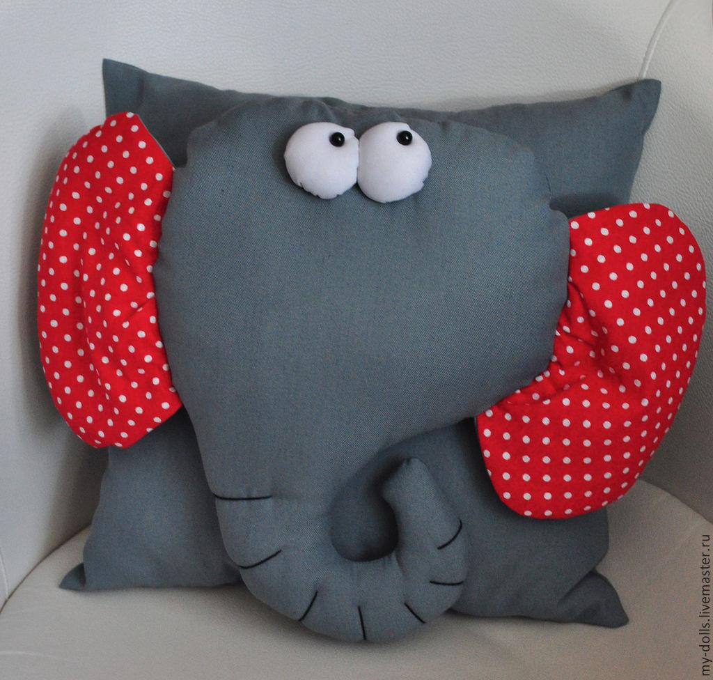 Плюшевые подушки игрушки своими руками